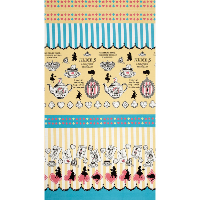 Lecien Judie's Cotton Cards & Silhouette Border Yellow