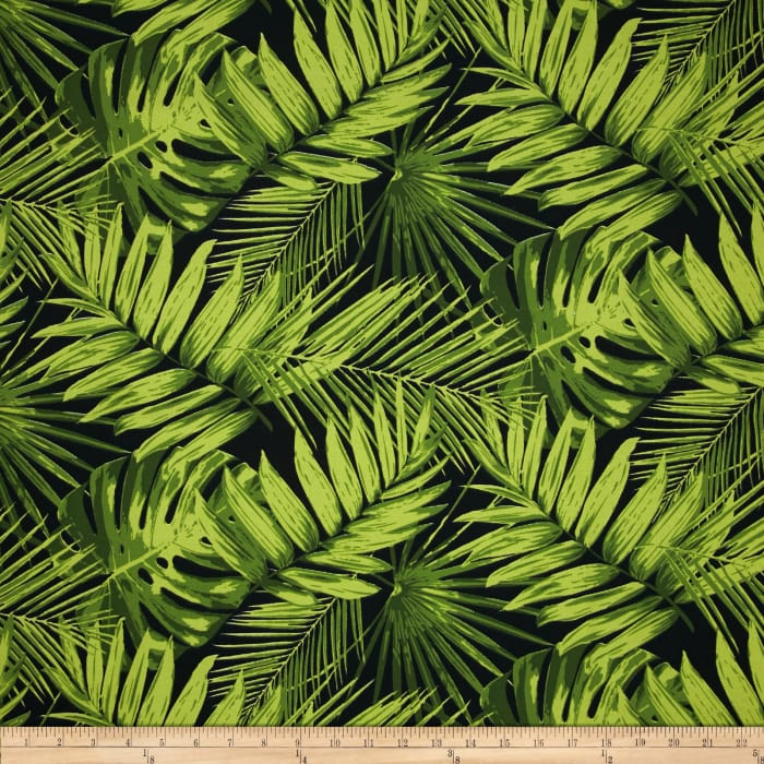 Terrasol Indoor/Outdoor Tropical Fronds Ebony