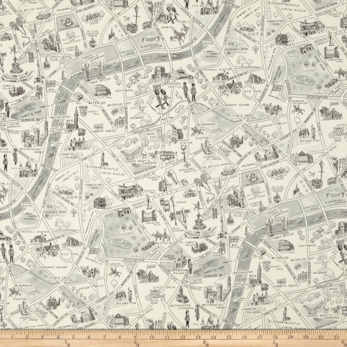 Moda Passport London Map Black/White