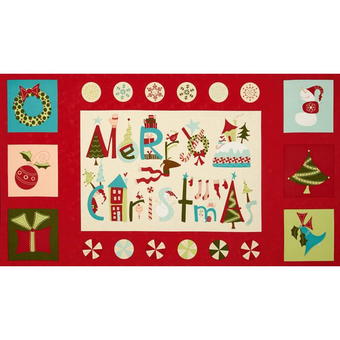 Moda Very Merry 24 In. Panel Berry