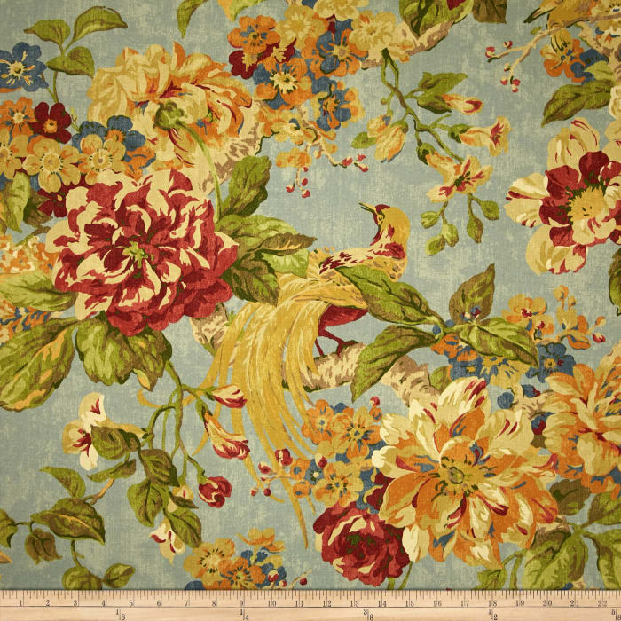 Waverly Floral Engagement Twill Woodland