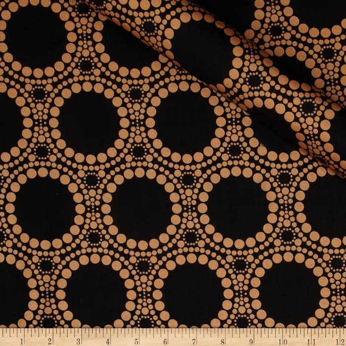 Orbit Metallic Large Circle Dot Copper/Black
