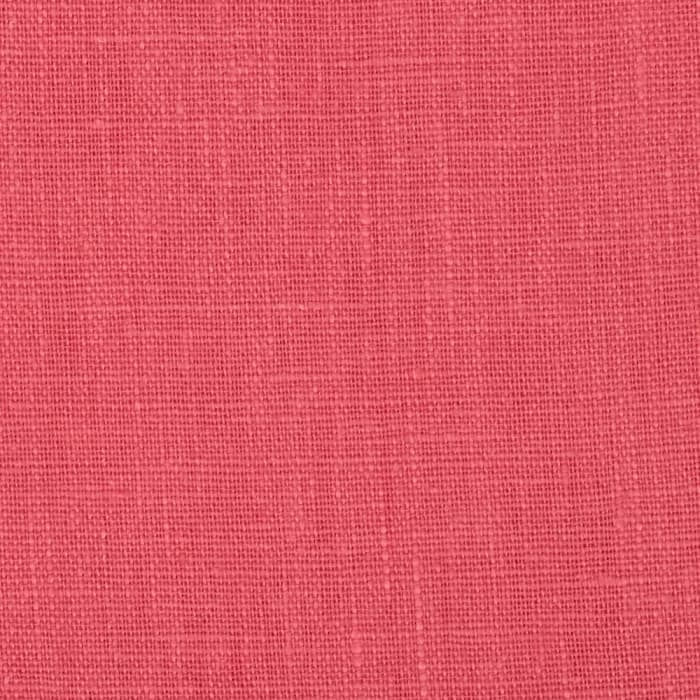 European 100% Washed Linen Coral