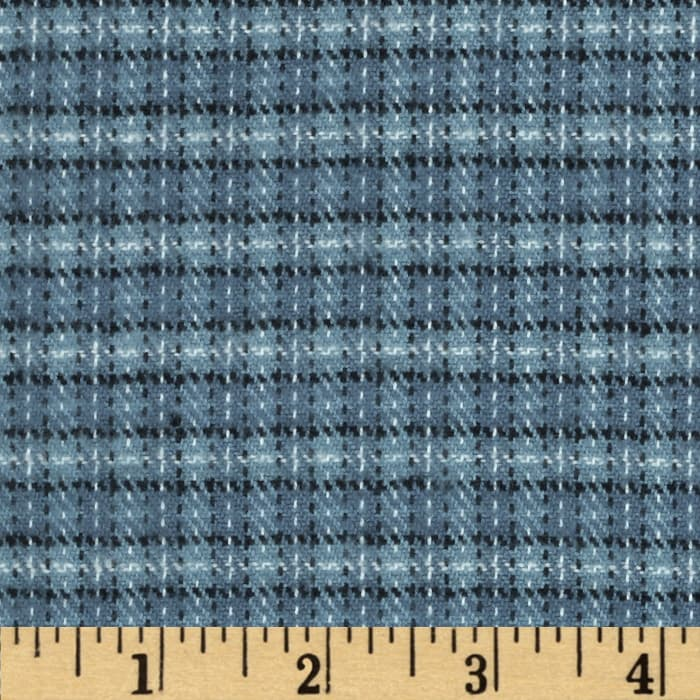 Primo Plaids Flannel Small Plaid Blue