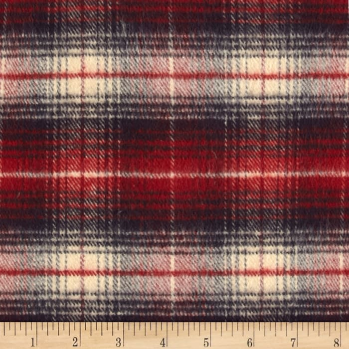 Primo Country Squire Flannel Plaid 2 Blue/red/cream