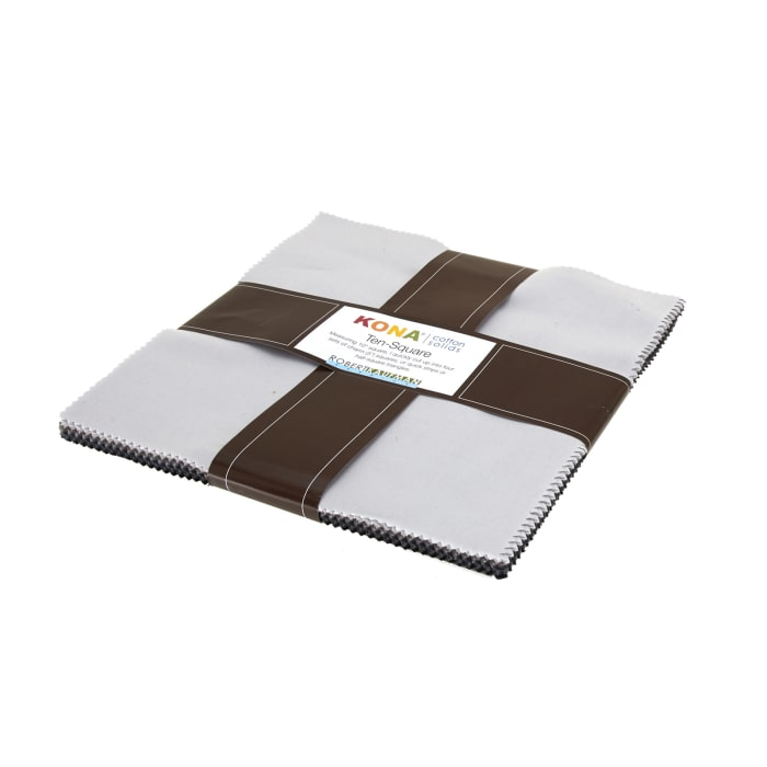 "Kaufman Kona Solids Gray Area 10"" Layer Cake"