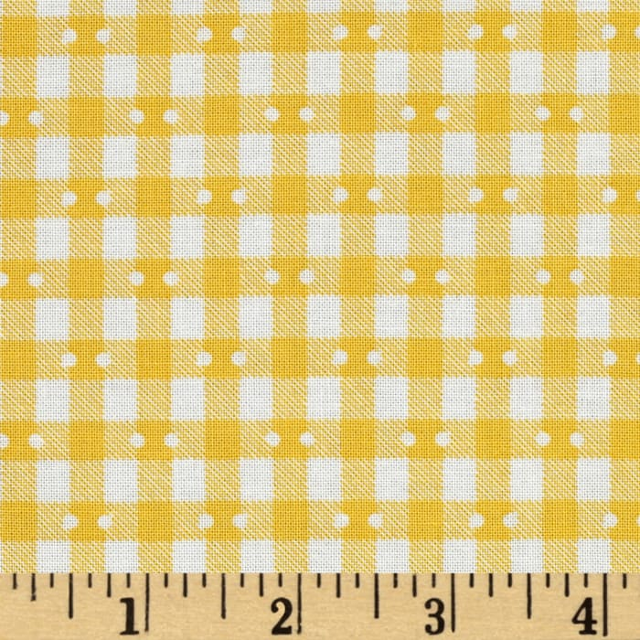 Farmhouse Blooms Gingham Yellow