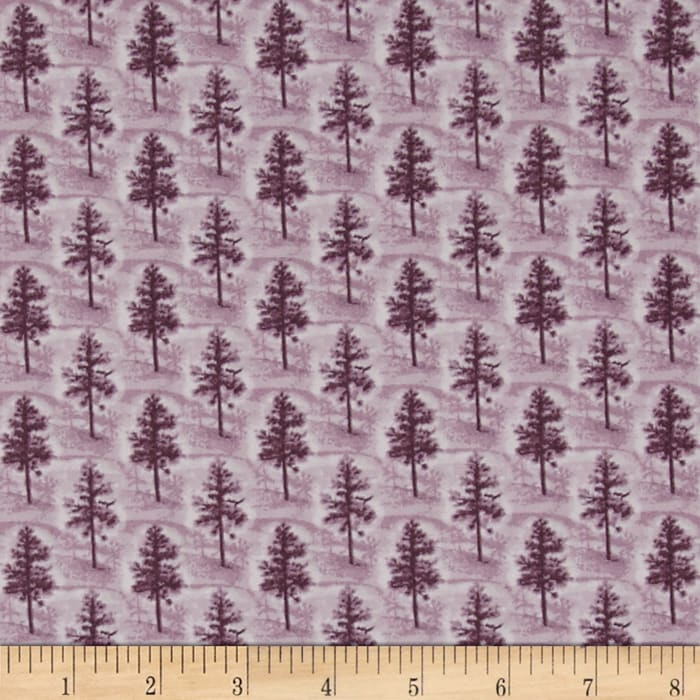 Quilting Treasures Native Pine Pine Tree Tonal Purple
