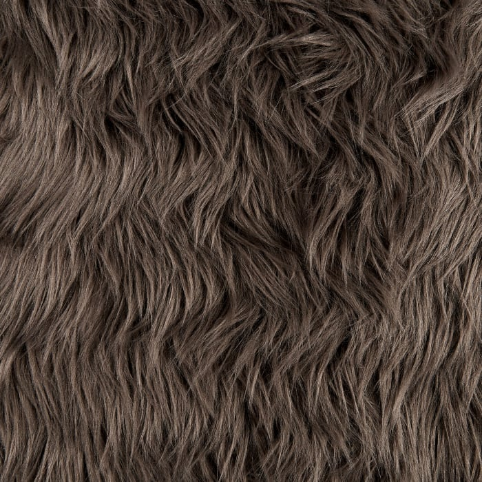 Shannon Faux Fur Luxury Shag Pewter