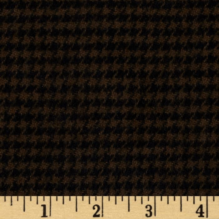 Cozy Yarn Dye Flannel Mini Houndstooth Taupe