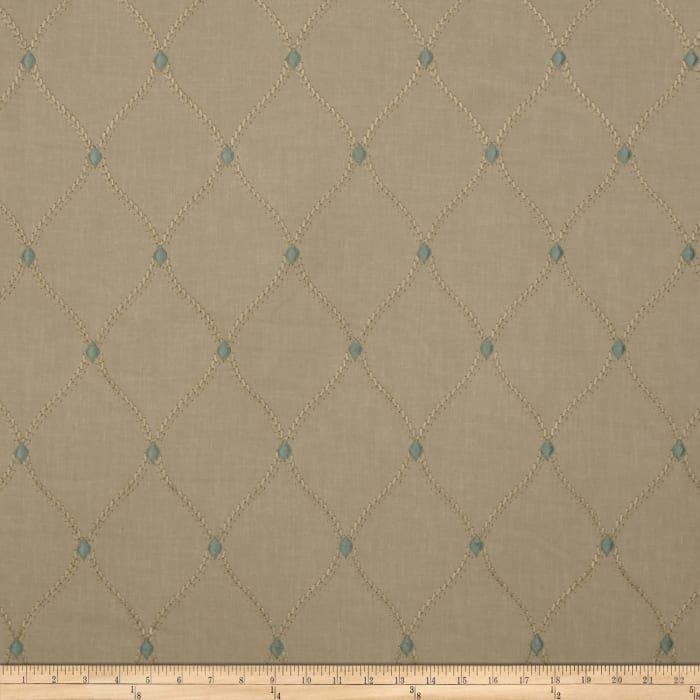 Swavelle/Mill Creek Embroidered Engaging Dew