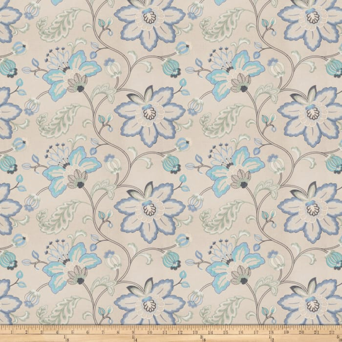 Embroidered Bettino Floral Lagoon