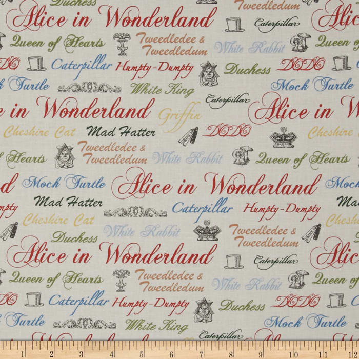 Alice in Wonderland Character Names Cream