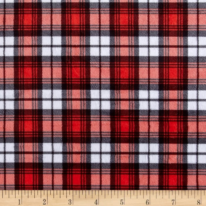 Minky Swatch Plaid Red