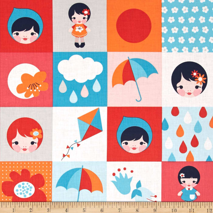 Kaufman Whatever The Weather Patchwork Cloud