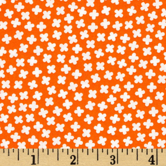 Kaufman Rhoda Ruth Tiny Flowers Orange
