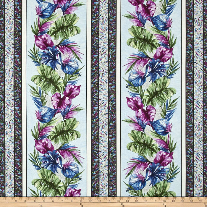Butterfly Forest Stripe Blue/Multi
