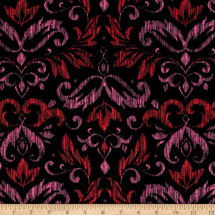 Michael Miller on the Town Blooming Damask Red