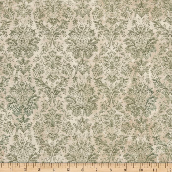 Tim Holtz Eclectic Elements Wallflower Faded Damask Teal