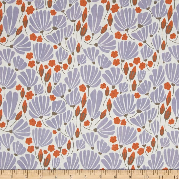 Cloud 9 Organic Morning Song Breezy Floral Voile Blue