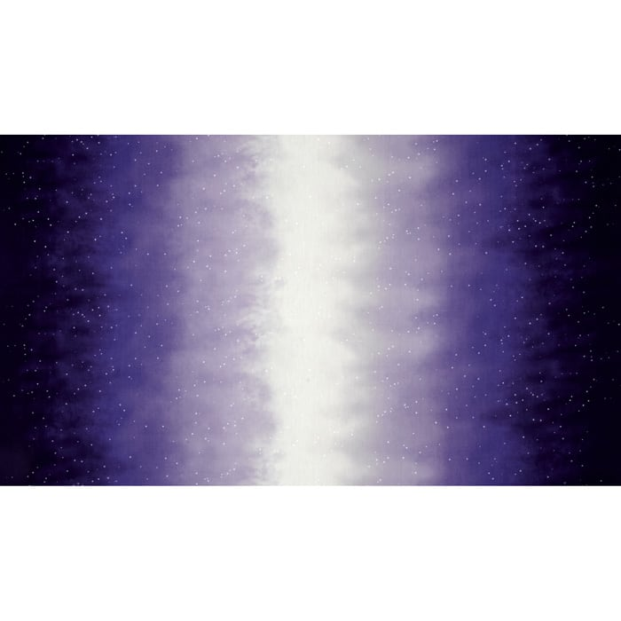 Enchanted Pines Sky Ombre Double Border Purple