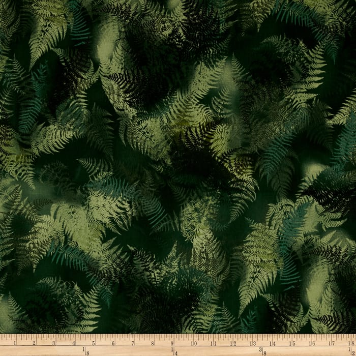Enchanted Pines Ferns Olive