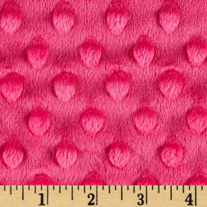 Shannon Minky Cuddle Dimple Extra Wide Fuchsia