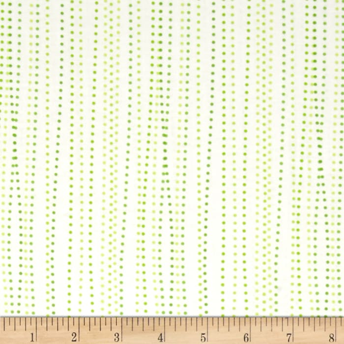 Moda Dot .Dot.Dash-! Dot Stripe Green