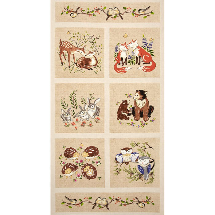 Forest Frolics 24 In. Panel Multi