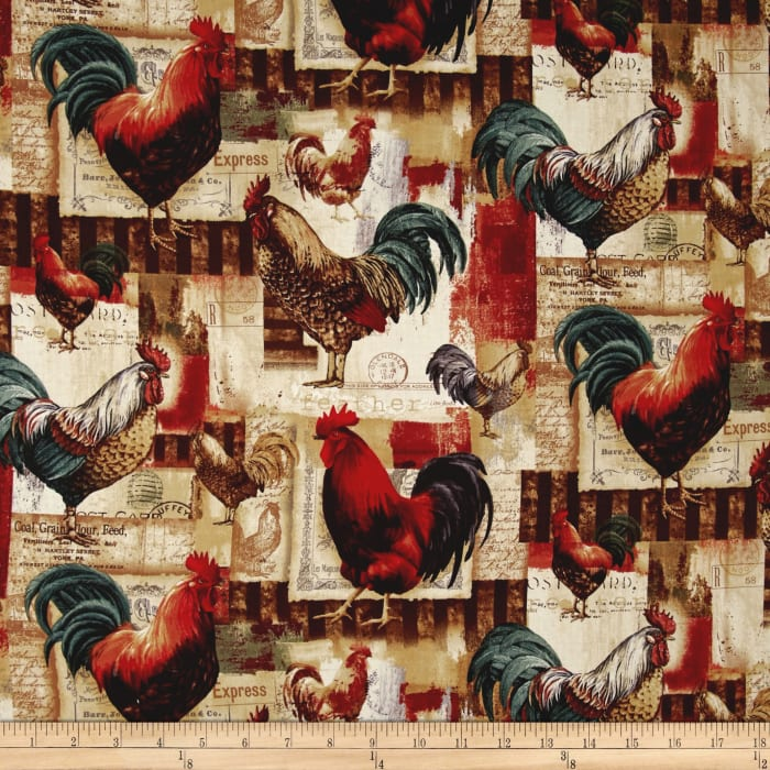 Animal Adventure Roosters Afternoon Multi