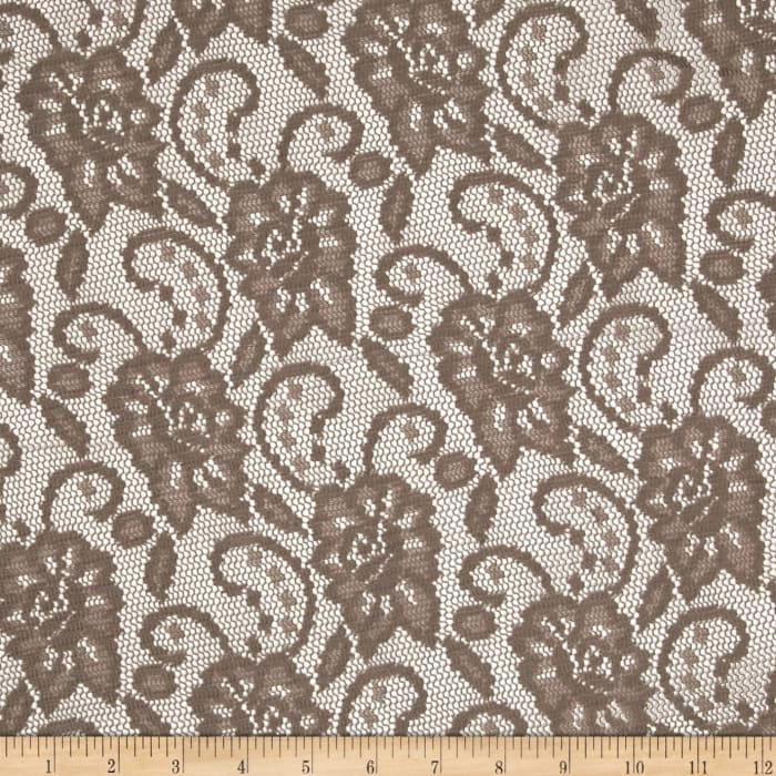 Designer Crochet Lace Taupe