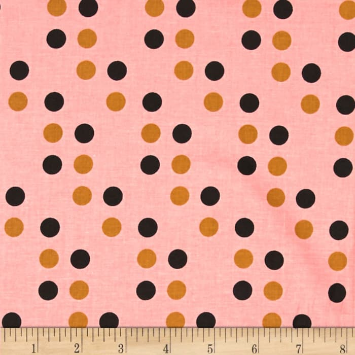 Cotton + Steel Lucky Strikes Dime Store Dot Coral