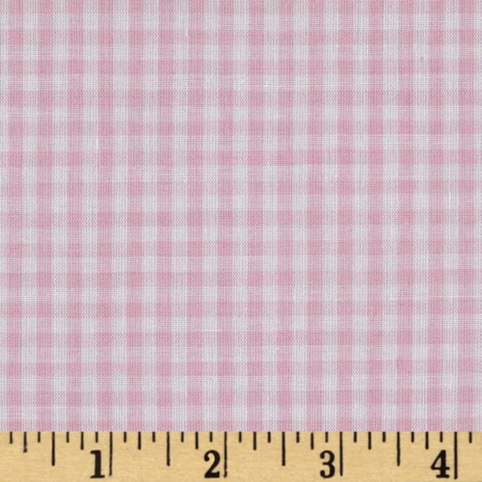 Wide Width 1/8 Gingham Check Pink