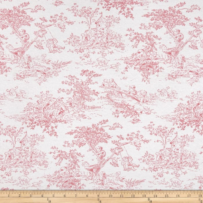 Cotton Stretch Jersey Knit Pink Toile