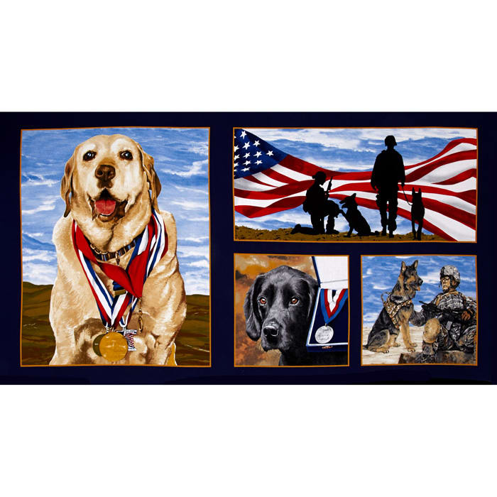 Paws For Valor Military Dogs 23'' Panel Multi
