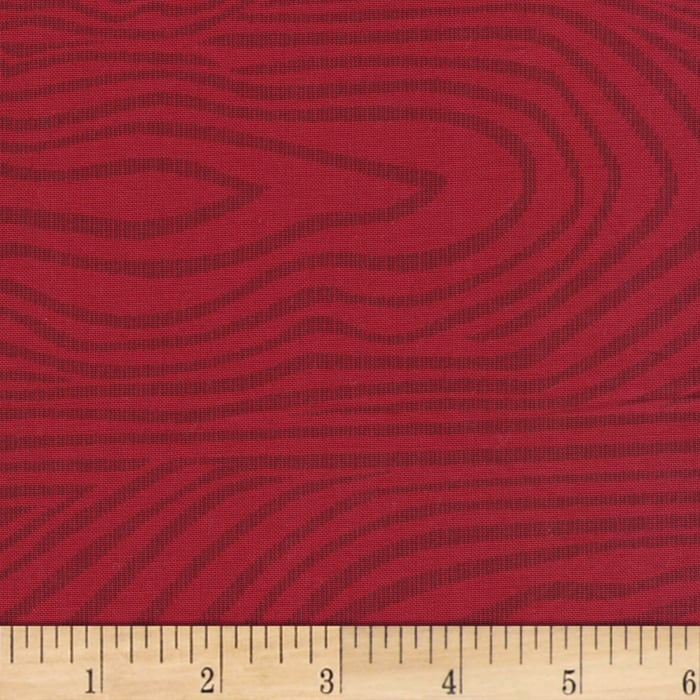"""110"""" Wide Quilt Back Moire Red"""