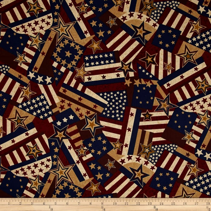 Quilts of Valor Packed Flag Light Tan