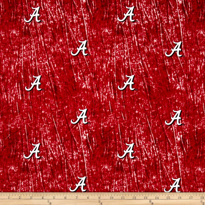 Collegiate Cotton Broadcloth University of Alabama Tie Dye