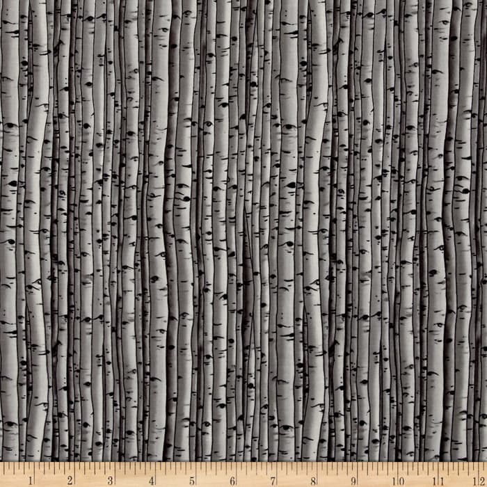 Snowscapes Birch Texture/ Knock On Wood Grey