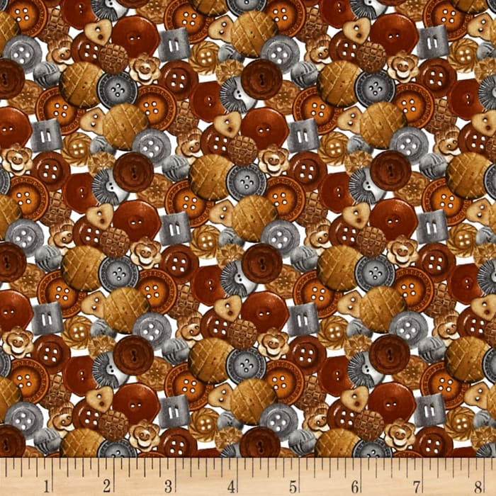 A Stitch In Time Buttons Brown