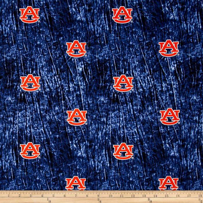 Collegiate Cotton Broadcloth Auburn University Tie Dye Print