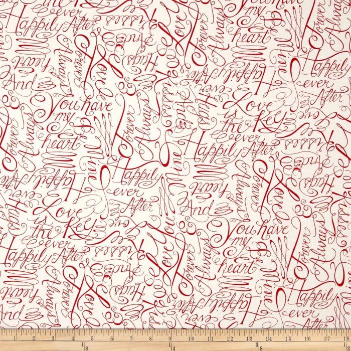 Moda Ever After Words Of Love Ivory/Red