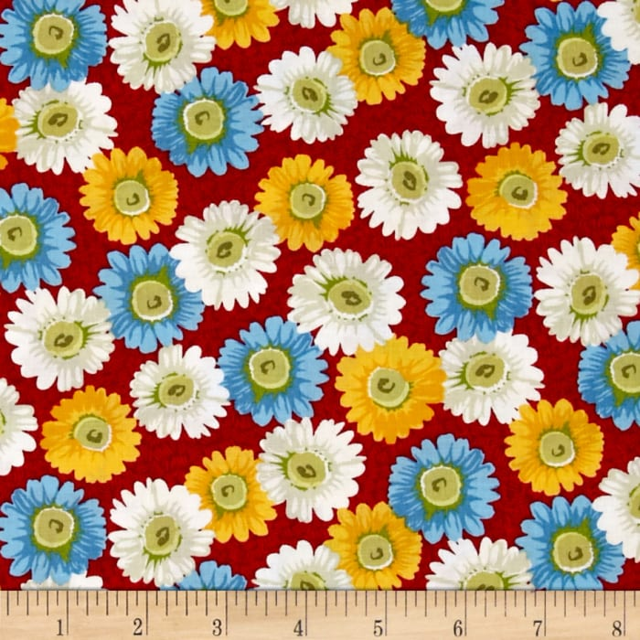 The Little Red Hen Large Floral Red