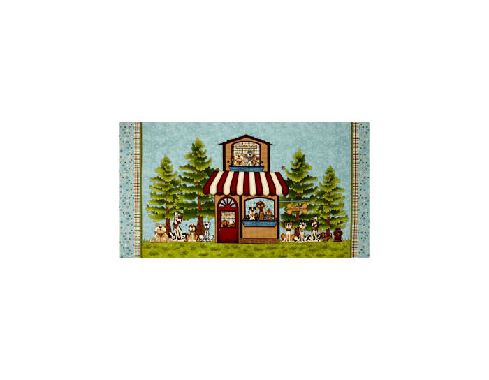 Pet Rescue Rescue Banner 24 In. Panel Light Teal