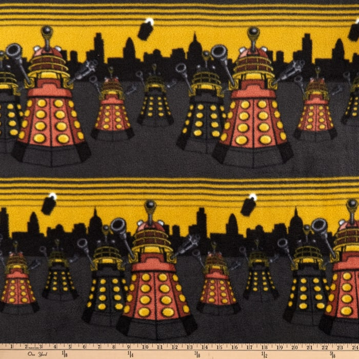 BBC Doctor Who Fleece City Scene Mustard