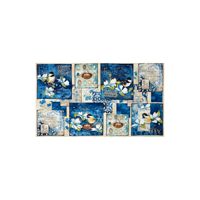"""Feather Your Nest 24"""" Panel Multi"""