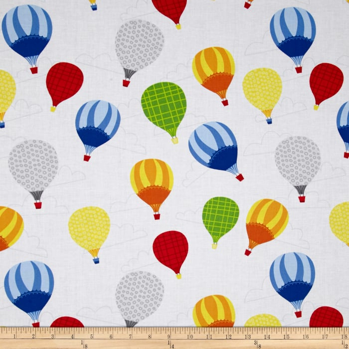 Big City Friends Hot Air Balloons White/Red