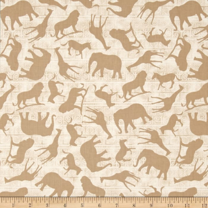 Wisdom of The Plains Animal Silhouettes Cream