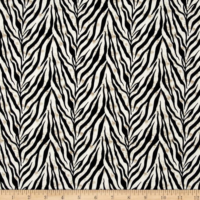 Wisdom of The Plains Zebra Print Cream