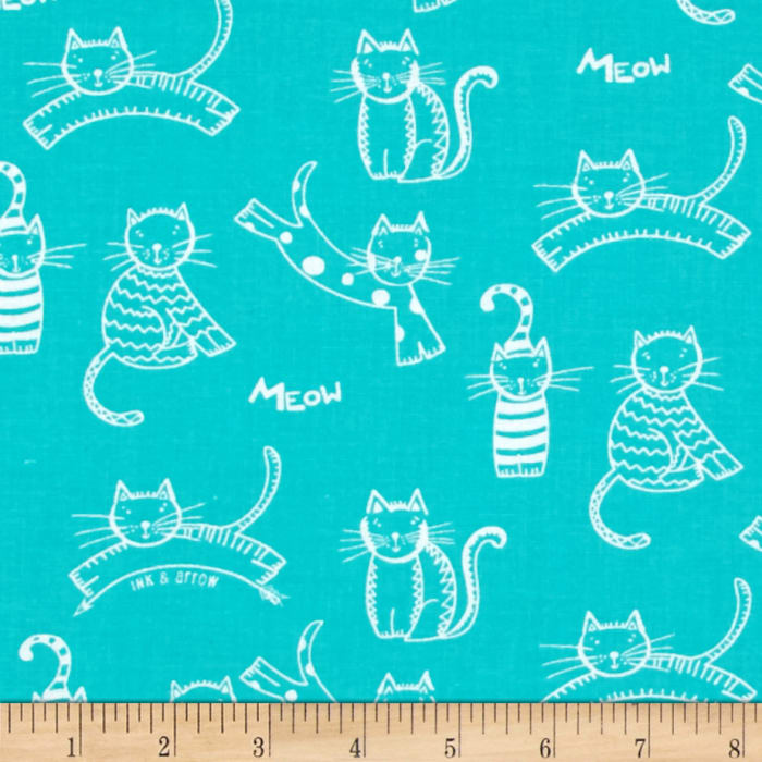 The Cat's Meow Tossed Cats Turquoise